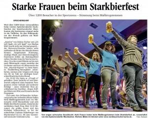 Starkbierfest Bericht vom Nordbayerischen Kurier 09.03.2015